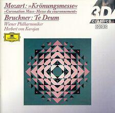 MOZART: KRÖNUNGSMESSE - BRUCKNER: TE DEUM, WP - KARAJAN /CD