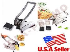 Stainless French Fry Potato Fruit Vegetable Cutter Chopper Dicer Slicer 2 Blades