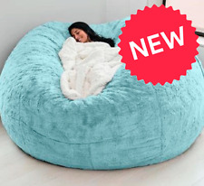 Microsuede Pillow Foam Giant Bean Bag Memory Living Room Chair Sofa Soft Cover