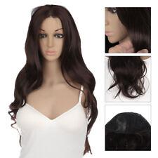 Femme Noir Cosplay Perruque Cheveux Longue Droite Ondulé Bouclés Deguisement Wig