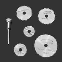 6pcs/set Mini HSS Circular Saw Blade Rotary Tool For Dremel Metal Cutter Power T