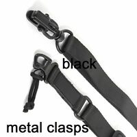 2 Point Sling Metal Clasps (Black) Quick Release for Sling Adapters