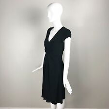 Banana Republic Issa London Collection Womens Dress Size 2 Black Shortsleeve