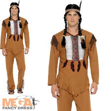 Medium Men's Native Western Warrior Indian Costume - Mens Fancy Dress American