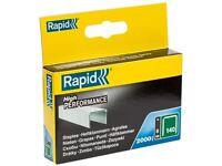Rapid - 140/8 8mm Galvanised Staples Pack 2000