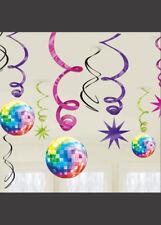 70s Disco Party Swirl Decorations Pk12