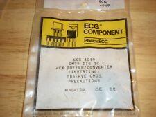 ECG4049 CMOS INTEGRATED CIRCUIT REPL NTE4049