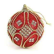 Hot Christmas Rhinestone Glitter Baubles Balls Xmas Tree Ornament Decoration 8CM