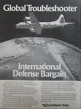 2/1981 PUB LOCKHEED P-3C ORION NAVY ASW MARITIME PATROL AIRCRAFT ORIGINAL AD