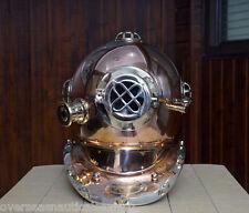 Us Navy Mark V Copper Brass Diving Helmet Marine Deep Sea Divers Diving Helmet