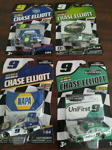 Chase Elliott Nascar 1/64  Authentics 4 car lot nice