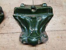 Pied Poêle Godin 3721 Emaillé Vert Majolique état  moyen vendus à l'unité