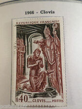 FRANCE 1966, timbre 1496, CELEBRITE CLOVIS, oblitéré, VF used stamp