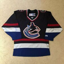 Vintage Vancouver Canucks Orca CCM Hockey Jersey Small Navy 97-07