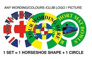 """320 SETS PERSONALISED BOWL STICKERS ANY WORDING AND ARTWORK 1"""" BOWLS"""