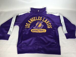 Los Angeles Lakers Track Jacket Size 2T Toddler Kids Baby Purple & Gold