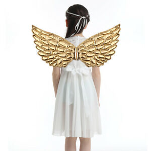 Angel Feather/Plastic Wings Cosplay Christmas Fancy Dress Costume Kid Adult S/M