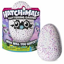 NEW HATCHIMALS GLITTERING GARDEN PENGUALA GLITTER HATCHIMAL PINK /PURPLE 6037399