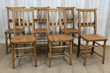 Traditional Style Solid Oak Chapel Chair Dining Chairs With Vertical Back Slats
