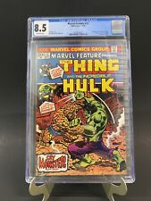 MARVEL FEATURE #11 CGC 8.5 1st Solo Thing 1973 Hulk vs Thing Newly Graded! 🔑🔥