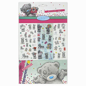 Me to You Tatty Teddy Stickers, 6 Sheets, Each sheet 14 x 7cm with Sticker Album