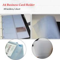 Blatt mit 10 halter A4 Visitenkartenhalter gestanzte Brieftaschen - Kartenhalter