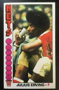 1976-77 Topps Basketball JULIUS ERVING  #1 Card New Jersey Nets Nice!