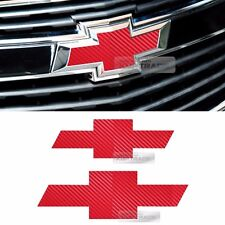 Front Rear Red Carbon Emblem Badge Decal Sticker For CHEVROLET 2013 2014 Cruze