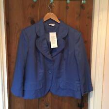 Alex&Co Blue Linen Jacket Size 18 New