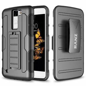 LG K8 / Escape 3 / Phoenix 2 Case, Kickstand Belt Clip Case + Screen Protector