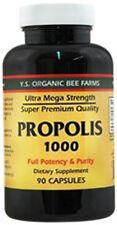 Y.S. Organic Bee Farm 1000 mg 90 cap Ultra Mega Strength Super Bee Propolis YS