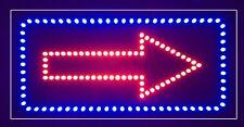Enseigne lumineuse à LED Flèche rouge/bleu 48x24x2.5cm