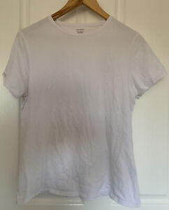 Marks And Spencer White Shirt Size 16 Round Neck Tee
