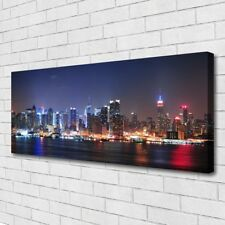 Leinwand-Bilder Wandbild Canvas Kunstdruck 125x50 Wolkenkratzer Skyline