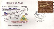 3698+  CONCORDE  1er JOUR TIMBRE OR SENEGAL 1976