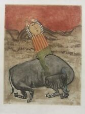 """Graciela  Rodo Boulanger """" Rodeo """" Original Etching Artwork S/N"""