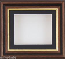 effet Acajou Doré Boîte profonde Cadre d'affichage 3D 2D OBJETS D Noir Blanc