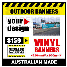 Custom Outdoor Vinyl Banner Sign  - 4200mmW x 900mmH Signage Warehouse