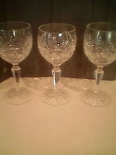 Bohemia Crystal Vintage Discontinued Pinwheel Design Wine Glass