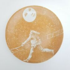 Italian Artist Carlo Marchiori Platter Pulcinella #1 Jester Moon Plate Ladder