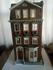 Franklin Mint Norman Rockwell Memories of Christmas Dollhouse with Furniture Nib
