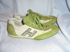 HOGAN donna verde/bianco in pelle e pelle scamosciata/tessile Lacci Scarpe Misura UK 5 EU 38