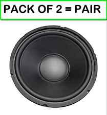 "(PACK OF 2 = PAIR) MCM Audio 55-2973 12"" Woofer with Poly Cone 120W RMS at 8 ohm"