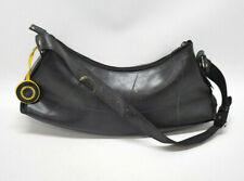 GLOBAL EXCHANGE FAIR TRADE LARGE SOLID BLACK HOBO PURSE ~ RECYCLED RUBBER NWT