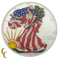 2000 Painted Walking Liberty 1 oz Silver American Eagle w/ Box