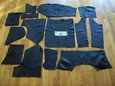 14 Pc LOT GENUINE BLACK COWHIDE RECLAIMED LEATHER LARGE PLIABLE CRAFTS REMNANTS