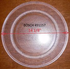 "14 1/8 "" BOSCH GLASS TURNTABLE PLATE / TRAY 491157 Used Clean"