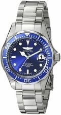 New Invicta Men's 9204 Pro Diver Blue Dial Steel Bracelet Watch