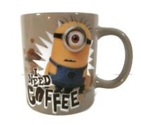 Minion Mug Despicable Me NEEDS COFFEE Jumbo Ceramic 20 oz