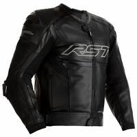 RST Tractech Evo R CE Moto Motorcycle Motorbike Leather Jacket Black / Black